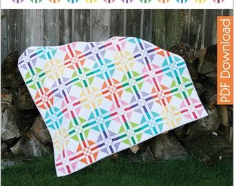 Modern Quilt Pattern - Island Girl - PDF