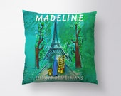 Madeline Pillow Cover // Spun Polyester Throw Pillow Case, Cover, With or Without Insert, Multiple Colors - Made in USA
