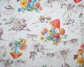 Vintage fabric mushroom home decorator arts crafts