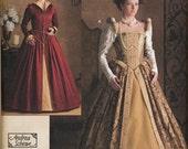 Uncut Simplicity 3782 Andrea Schewe Elizabethan era dress costume pattern, Size HH (6-12)