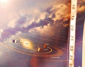vintage Reader's Digest Space Chart poster from Reader's Digest Great World Atlas 1963 edition