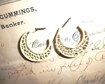 Funky Vintage 70 Hoop Earrings