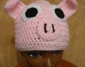 Hog Wash, you need a  Pig Hat Any Size Made to Order hand crocheted