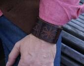 Leather Wristband Celtic-Helm of Awe-Leather Wristband- Leather Wristband-Leather Wristbands-Rune Runes Runestone Leather Cuff