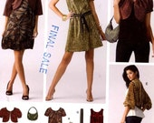 Cocktail dress Shrug purse belt jacket and top sewing pattern Simplicity 3533 UNCUT  Sz 6 to 14