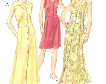 Womens Casual dress sewing pattern Kwik Sew 3050 Sz XS to XL UNCUT Spring summer fashion