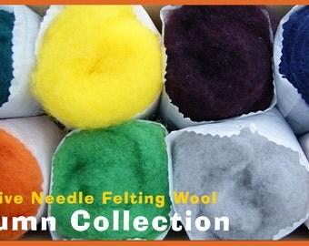 Autumn Color Collection Felt Alive Needle Felting Wool 4 oz