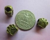 Bronze-toned Paw Print Spacer Bead European Charm SIzed