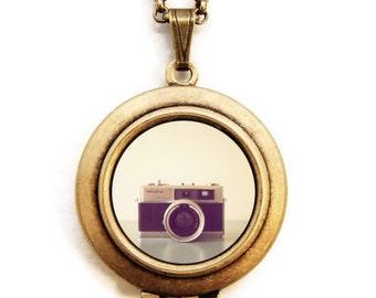 The Minolta- Photo Locket Necklace of a Vintage Camera-Collaboration with SusannahTucker