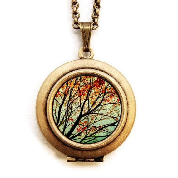 Autumns Alchemy- Fine Art Photo Locket Necklace