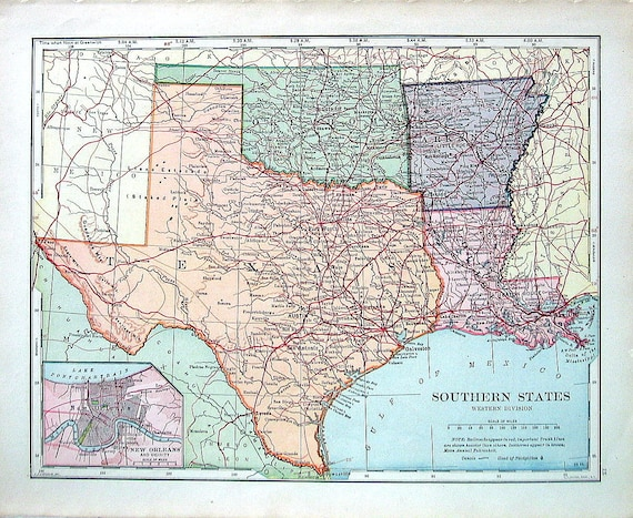 Arkansas Texas Map