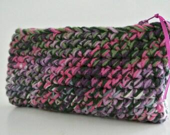 Ladies Wallet , Crochet Glasses Case , Zipper Glasses Case , Crochet Ladies Wallet , Coin/Change Purse , Glasses Cover  , Small Clutch Purse