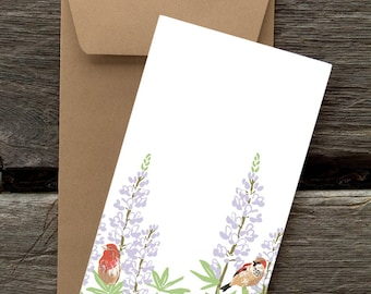 Lupines -- 8 Blank flat cards and envelopes