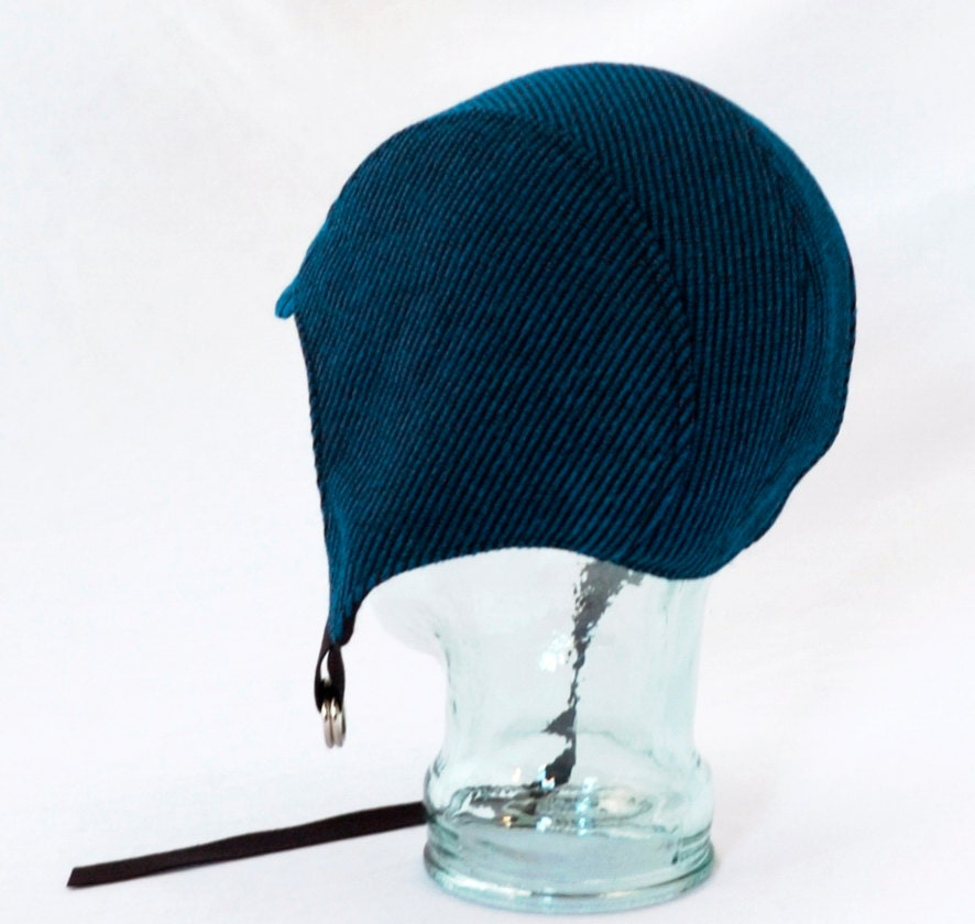 royal blue wool aviator hat womens hat mens hat by