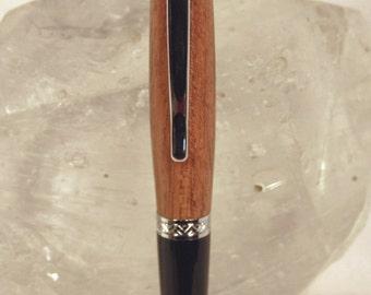 Handmade Chrome Brazilian Cherry Sierra Style Pen