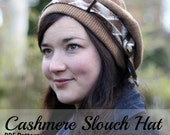 Slouch Hat Pattern Digital Download Cashmere Hat
