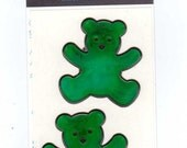 Green Bears Magi-Cals by Sandylion Sticker Strip MOC color changing oily NIP