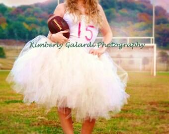 Bridesmaid Skirt Bridesmaid Tutu Wedding Tutu Skirt Ivory Skirt Pink Skirt Blush Skirt  Ivory and Pink Adult Tutu Above the Knee  All Sizes