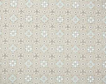 1940s Vintage Wallpaper - Blue and White Geometric