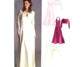 Misses Empire Halter Evening Dress / Bolero Jacket Sewing Pattern - New Look 6507 - All Sizes 8-18 Uncut
