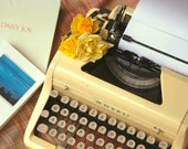 RESTORED 1950s Yellow Royal Typewriter