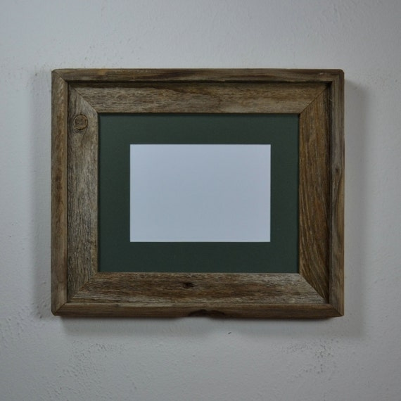Rustic 8x10 Reclaimed Wood Picture Frame With 5x7 By