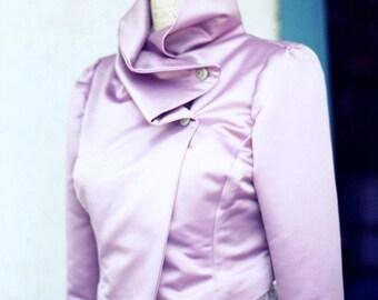 Silk Biker Jacket---Flannel Lined for Weddings