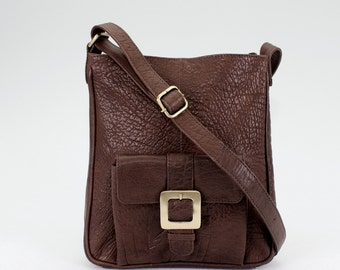 Leather Cross Body Purse, Ipad Bag, Brown
