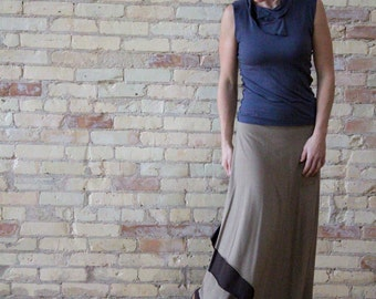 Organic Cotton & Bamboo Reversible Long Wrap Skirt