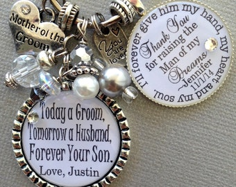 Mother of the groom gift, Personalized wedding, MOTHER of the BRIDE gift, man of my dreams, best friend and inspiration, today groom
