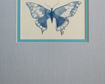 Watercolor Butterfly Print, Watercolor print, watercolor butterfly, glicee print