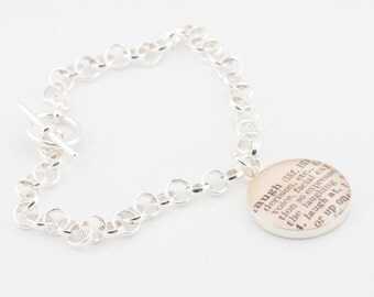 Sterling Silver toggle bracelet with definition of Laugh
