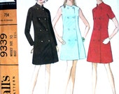 Double Breasted Coat Dress Bust 32.5