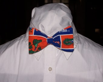 Let's Go Gators Clip On Bow Tie