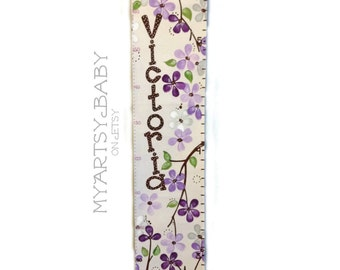 Cherry Blossom Canvas Growth Chart Made to Order