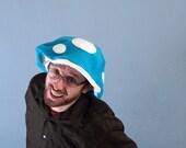 Mushroom Cap Floppy Hat Turquoise