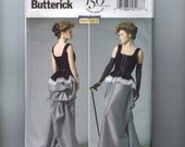 Misses Sewing Pattern Butterick B5969 Misses Making History HIstorical Costume Corset Victorian Bustle Steampunk 14-22 Multisize UNCUT