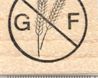 Gluten Free Rubber Stamp, Menu Symbol, Celiac Disease  D26002 Wood Mounted