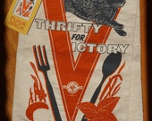 Thrifty for Victory - floursack towel