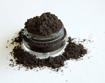 Black Onyx Eyeshadow & Eyeliner  *All-Natural Gentle Vegan Mineral Makeup*