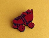 Red Roller Derby Pin
