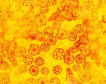 Butterflies Batik Morning Sunshine Yellow Michael Miller Fabric 27 inches LAST IN STOCK