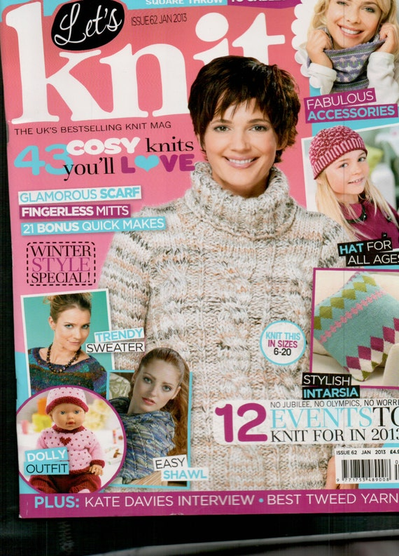 Let's Knit Knitting Magazine Issue 62 January 2013