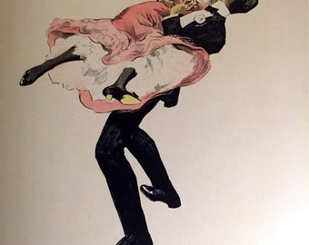 200 #  1902 German Lithograph From  Galante Welt Of Victorian Courtesans Its like playboy Vargas  dated 1902