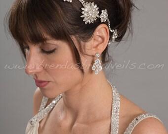 Bridal Hair Vine Comb, Navette Rhinestone Burst Headpiece, Rhinestone Hair Comb, Wedding Headband - Veronica