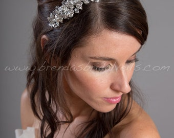Rhinestone Bridal Headband, Wedding Headband, Wedding Hair Accessory - Nora
