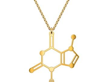 Chocolate Molecule Necklace - Gold