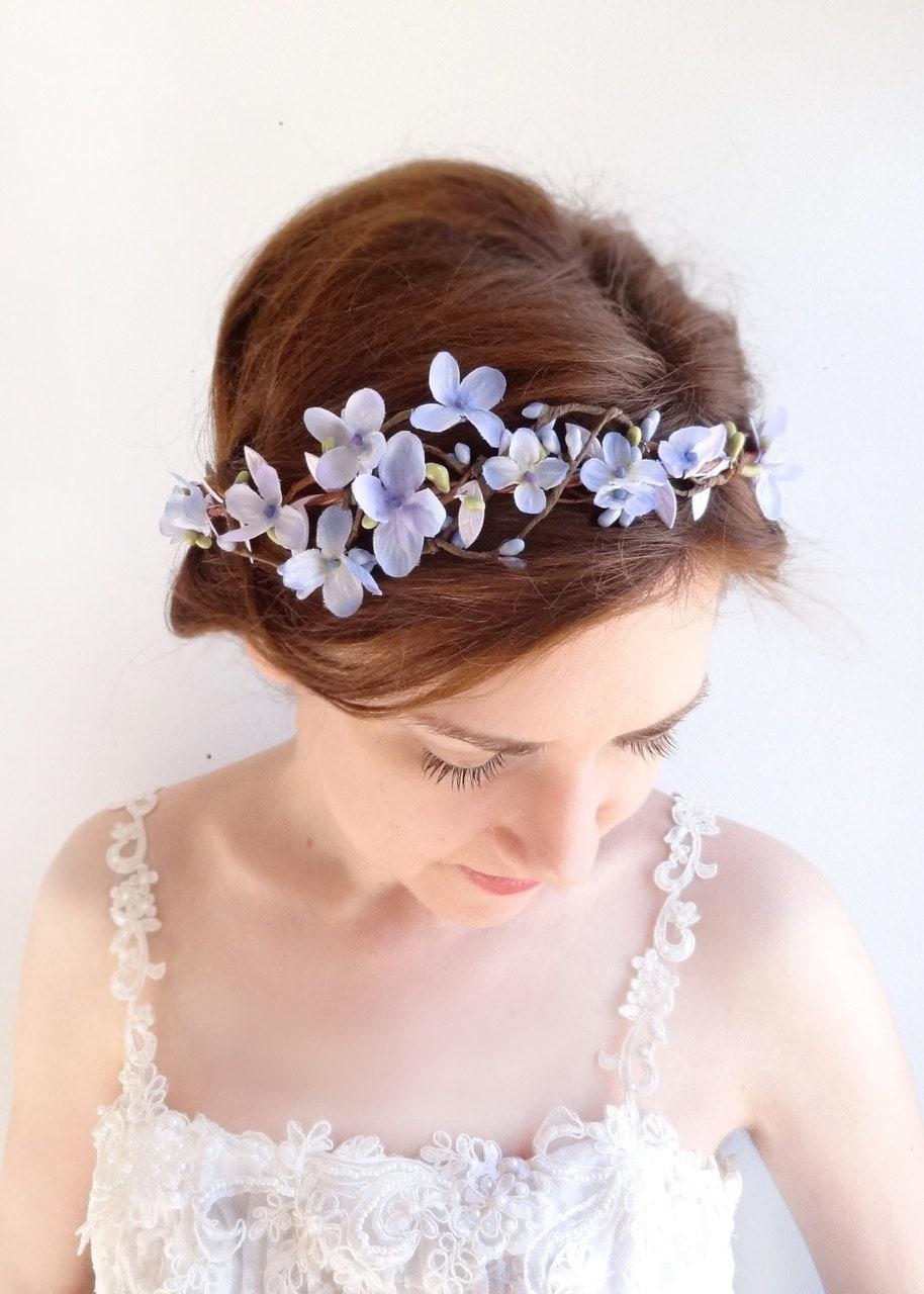 Lilac Flower Crown Lavender Floral Crown Pastel By