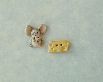Little mouse and cheese 2 pieces