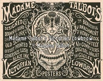 Madame Talbot Victorian Lowbrow Skull Poster Print